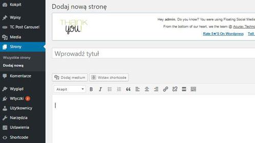 Tworzenie podstrony w WordPressie – podstawy